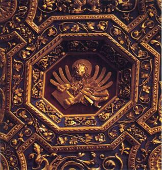 Image 4: Detail of the ceiling of the Sala del Capitolo of the Scuola Grande di San Marco
